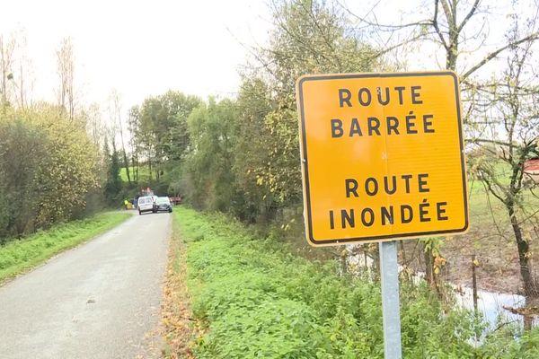 plusieurs routes sont impraticables dans le sud des Landes ce mercredi matin 6 novembre 2019