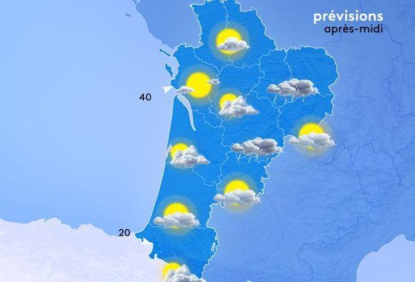 Aujourd'hui il faudra parapluie ET lunettes de soleil