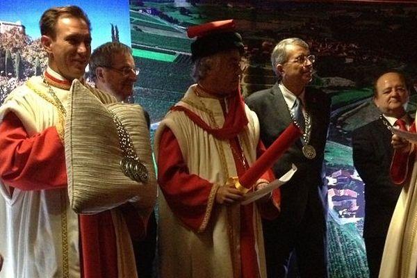 cérémonie d'intronisation en présence de Jean-Jack Queyranne