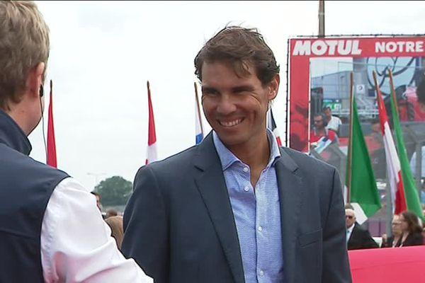 Parmi les stars internationales présentes aux 24 Heures du Mans, le joueur de tennis Rafael Nadal.
