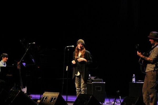 la chanteuse américaine Patti Smith e concert à l'auditorium Parco della Musica à Rome le 10 avril 2013 in Rome.