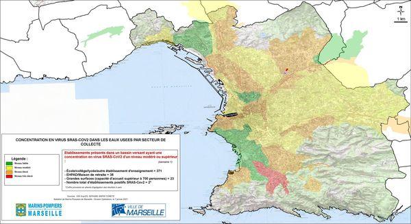 Deux zones rouges : à Luminy et Saint-Joseph