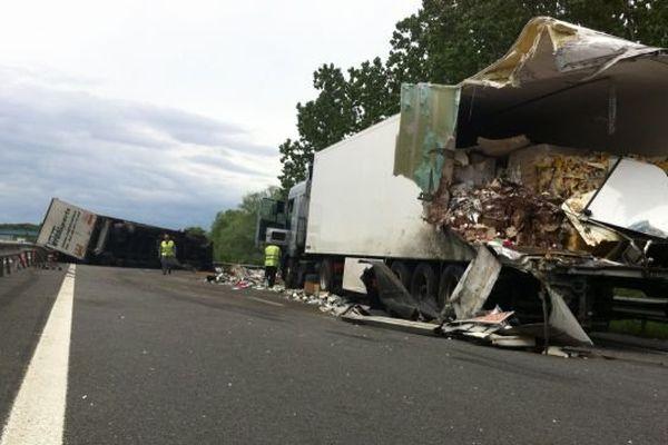 Accident de camions sur l'A20 à hauteur de Massay dans le sens Paris-Province