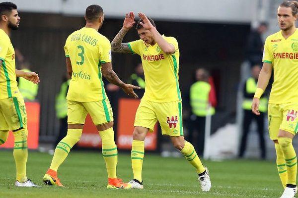 Le FC Nantes face à l'OGC Nice le  30 octobre 2016