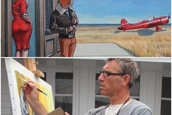Xavier Marabout va-t-il être condamné pour avoir fusionné Tintin et Hopper?
