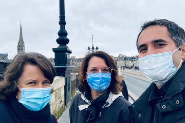 Agathe Corre, Sarah Paulin et Alexandre Berne