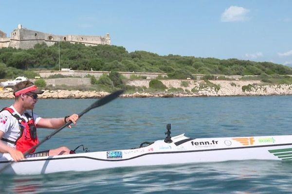Nicolas Lambert a traversé la mer Méditerranée en kayak.