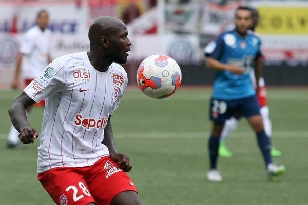 Julien Cétout (ASNL), lors de AS Nancy-Lorraine - Stade Brestois, au stade Marcel Picot.