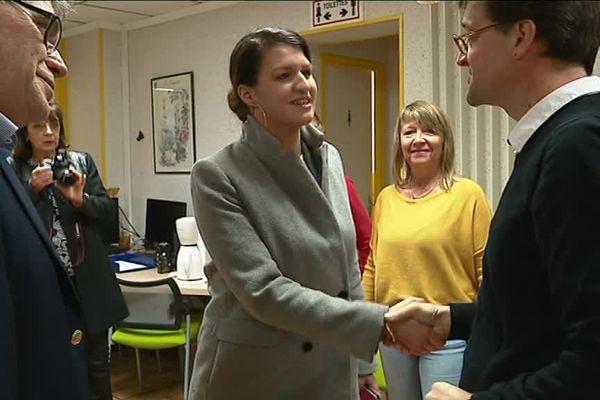 Marlène Schiappa lors de sa visite en novembre dernier dans le centre d'accueil pour femmes battues d'Angoulême.