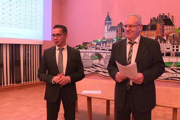 Francis Cammal et Christian Bouleau ce soir du 15 mars 2020.