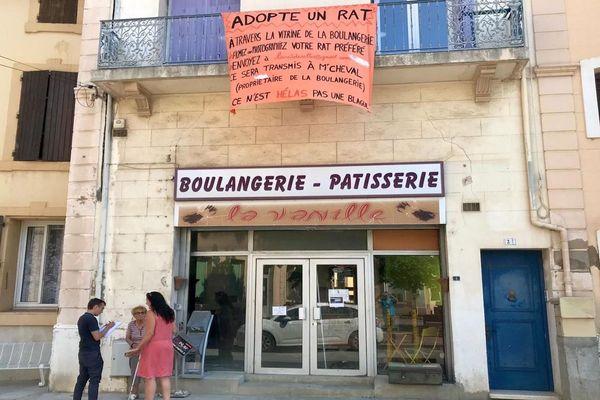 L''ancienne boulangerie de Salles-d'Aude est devenue un repère à rats - 2 juillet 2019.