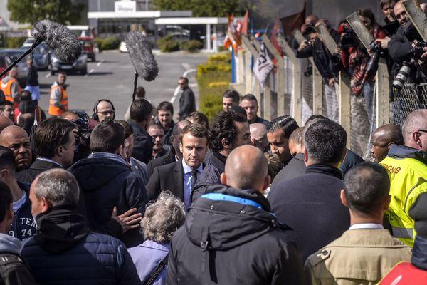Emmanuel Macron sur le site Whirlpool d'Amiens (Somme)