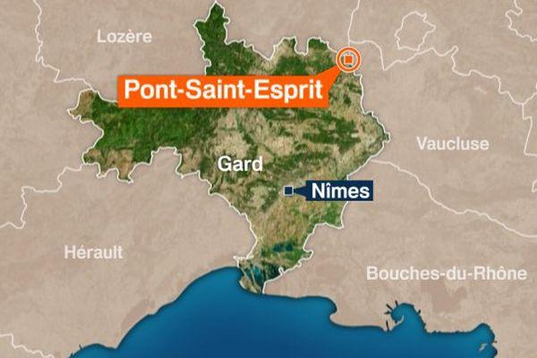 Carte Pont-Saint-Esprit (Gard)