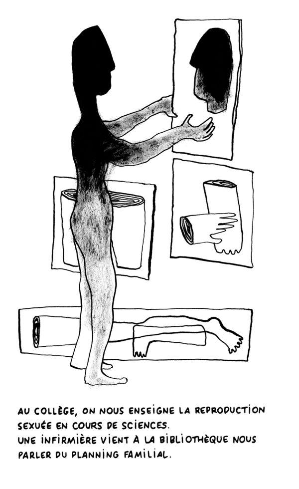 """""""Ce dessin reflète assez bien le questionnement...regarder des morceaux de soi, de sa vie"""""""