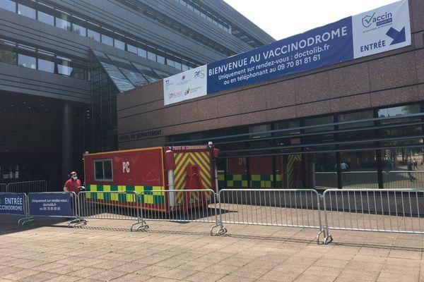 Le vaccinodrome tenu par les pompiers de Strasbourg dans l'hôtel d'Alsace, à l'orée de l'été 2021.