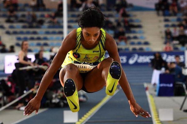 Jeanine Assani-Issouf le 16 février 2019 lors des championnats de France indoor à Miramas