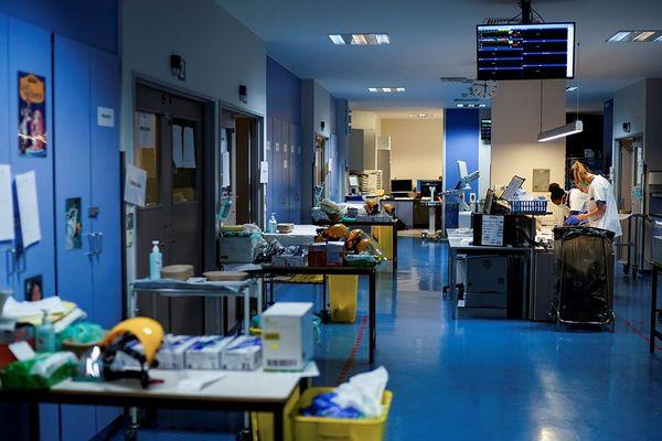 À l'intérieur de l'hôpital Erasme, à Bruxelles.