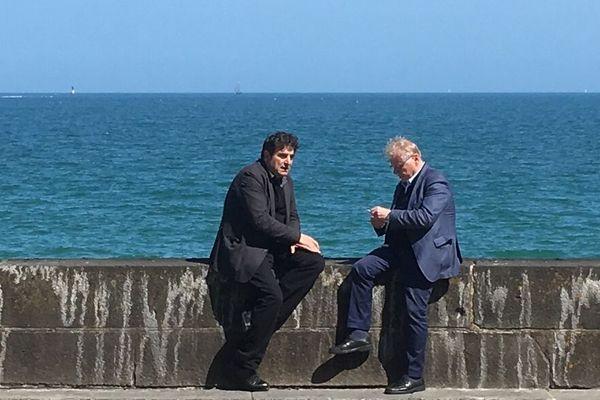 Daniel Conh-Bendit et Romain Goupil à Saint-Malo, au festival Étonnants Voyageurs
