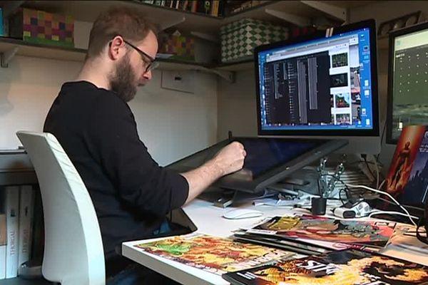 Niko Henrichon collabore avec les studios Marvel depuis dix ans.