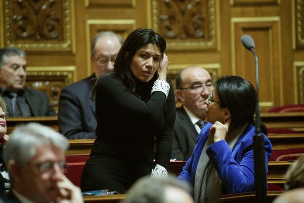 Samia Ghali au Sénat, en 2014