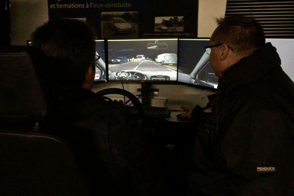 stage de conduite de nuit sur simulateur avec la Matmut et l'ACO