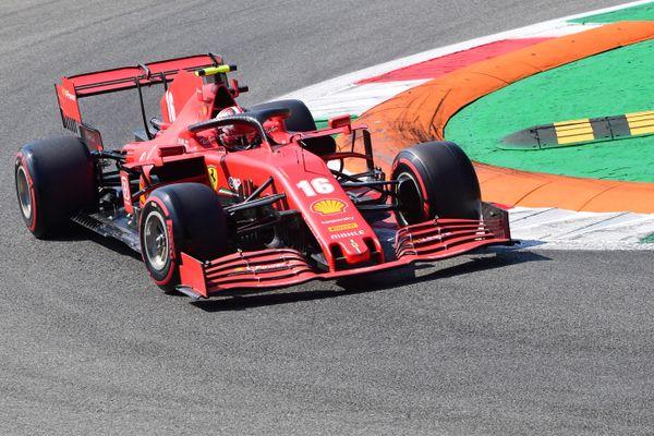 Charles Leclerc , le pilote monégasque de Ferrari sur le circuit de Monza en Italie, le 5 Septembre 2020.