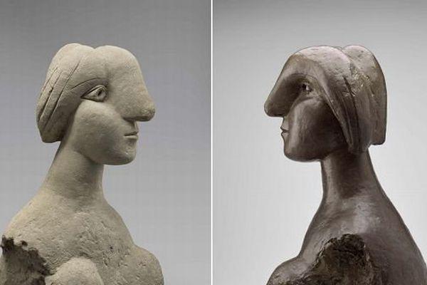 Buste de femme (ciment et bronze) version de 1931 et de 1932 Paris, musée Picasso