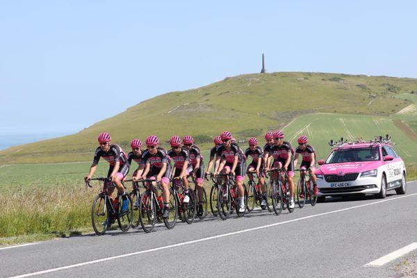 Les coureurs roubaisiens lors du stage d'été ici dans la région des Deux Caps.
