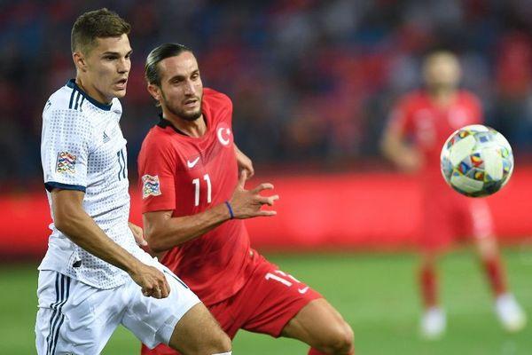 Yusuf Yazici avec la sélection turque contre la Russie en septembre dernier.
