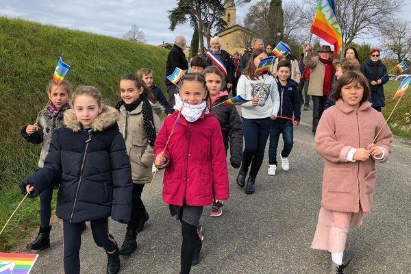 De nombreux enfants ont participé à cette journée de la Paix.