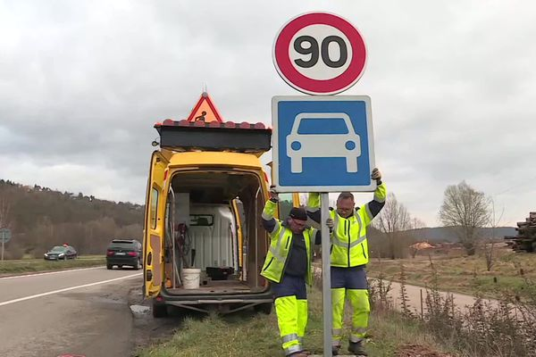Relèvement de la vitesse sur 54 km de départementales du Bas-Rhin le 4 mars 2020