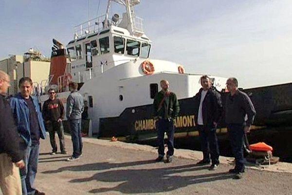 Sète (Hérault) - les pilotes du port sont en grève - 16 avril 2013.