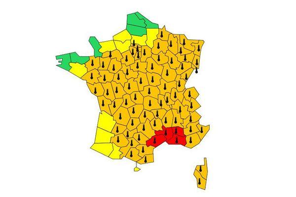 Le Gard et l'Hérault sont placés en vigilance rouge canicule par Météo France à compter de vendredi 28 juin 2019 à partir de 10h jusqu'au samedi 29 juin 2019 à 07h.