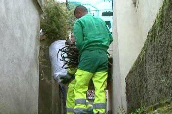 Les déchets sont collectés à domicile