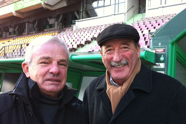 Patrick Revelli et Georges Bereta ont contribué à faire de l'As St Etienne un club de légende.
