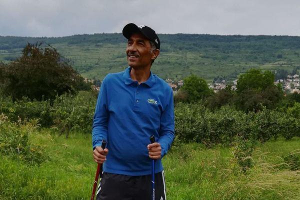 Fouad Saleh, passionné par la chaîne des Puys, est déjà venu faire de la randonnée dans le Puy-de-Dôme.
