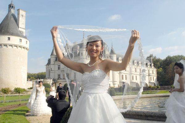 Un mariage chinois au château de Chenonceau, en 2007.