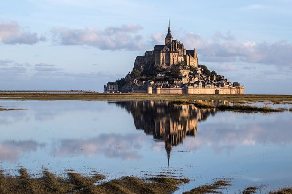 Départ à 6 h du matin jeudi pour Stéphane Ruel, depuis le barrage du Couesnon. Arrivée prévue le 14 juillet sous le porche d'entrée du Mont-Saint-Michel.