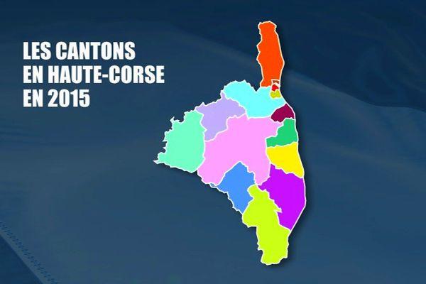 ILLUSTRATION - Les cantons en Haute-Corse en 2015