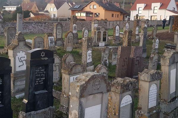 107 tombes ont été profanées au cimetière israélite de Westhoffen (Bas-Rhin)