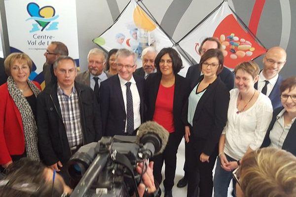 Myriam El Khomri, ministre du Travail, de l'Emploi, de la Formation professionnelle et du Dialogue social, en visite en Touraine.