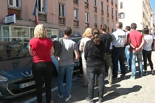 Des fonctionnaires de la DDSP se sont rassemblés dans la matinée du lundi 15 mai pour protester contre une réforme de leur service