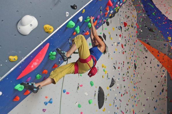15.000 prises ont été installées par des professionnels de l'escalade sur les murs et les blocs.