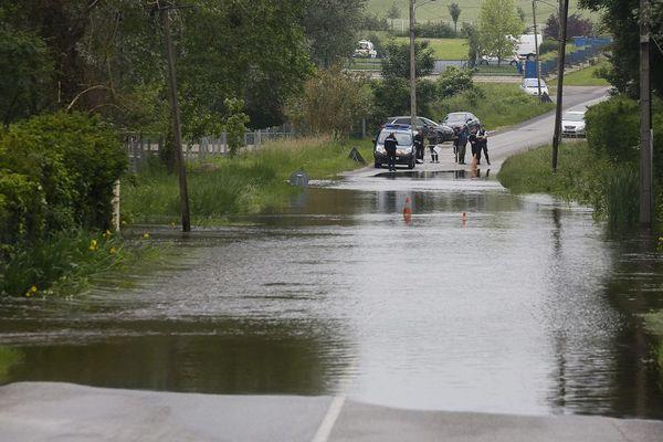 Inondations à Itteville (91), le 5 juin 2016