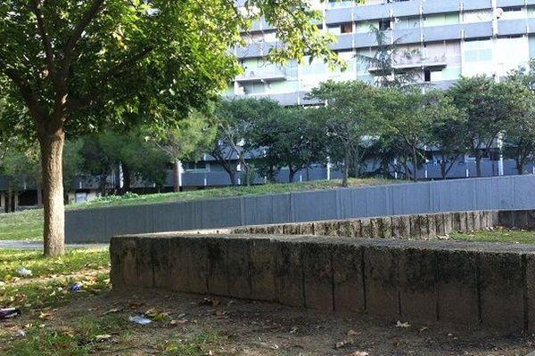 Square à la Reynerie où un homme a été blessé par arme à feu