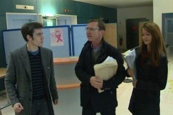 Les biologistes sont allés porter les feuilles de soin à la CPAM de Strasbourg