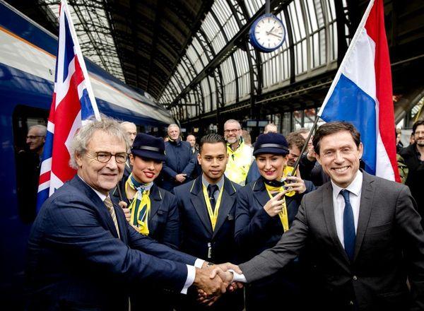 La liaison Eurostar entre Londres et Amsterdam a été inaugurée en février 2018.