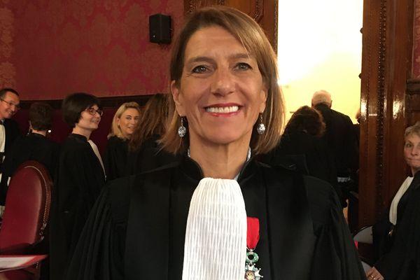 Frédérique Porterie, nouveau procureur de la République de Bordeaux, lors de son installation le 8 novembre 2019