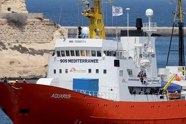 Le navire civil humanitaire Aquarius
