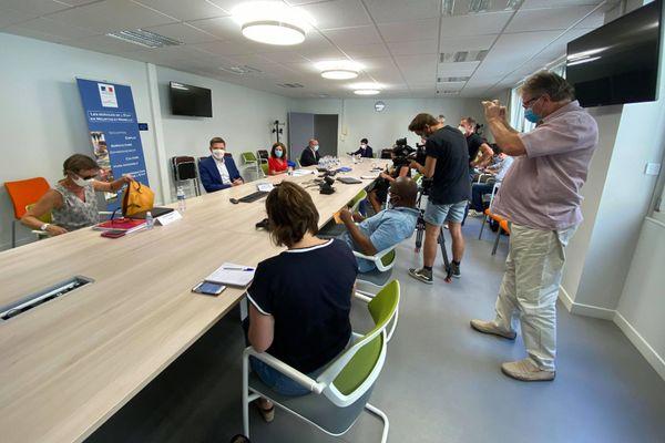 Conférence de presse à la Préfecture de Meurthe-et-Moselle du 5 août 2020.